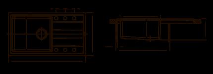 Мойка для кухни комбинированная Florentina Комби 860, песочный