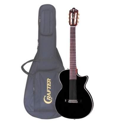 Электроакустическая гитара шестиструнная CRAFTER CT-125C BK  Чехол