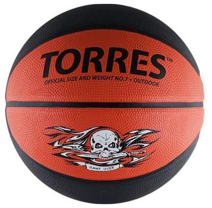 Мяч баскетбольный Torres Game Over B00117 cеро-красный