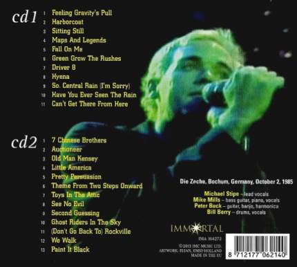 Аудио диск R,E,M, Live In Germany 1985 (2CD)