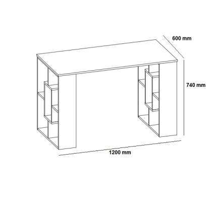 Письменный стол СОКОЛ СПм-15 60x120x74