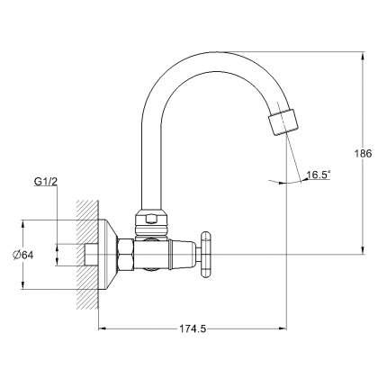 Смеситель для кухонной мойки SOLONE JIK12-A102-A