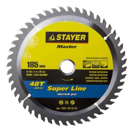 Диск по дереву для дисковых пил Stayer 3682-185-20-48