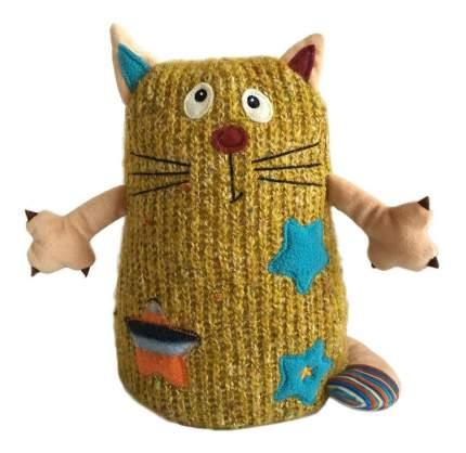 Мягкая игрушка Gulliver Кот Котейка, 15 см желтый