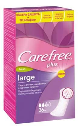 Салфетки carefree plus large fresh ароматизированные, 36 шт