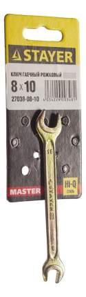Рожковый ключ Stayer 27038-08-10