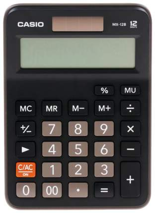 Калькулятор Casio MX-12 Черный