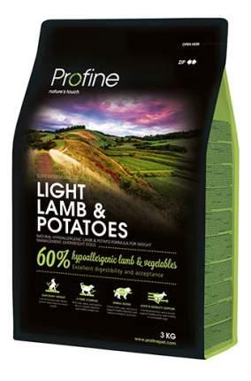 Сухой корм для собак Profine Light Lamb & Potatoes, баранина, картофель, 3кг