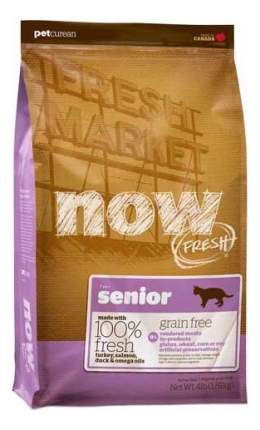 Сухой корм для кошек NOW Fresh Senior, для пожилых, индейка, утка, 1,82кг
