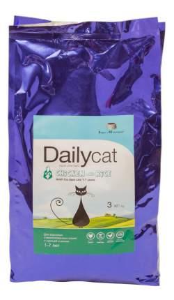 Сухой корм для кошек Dailycat Steri Lite, для стерилизованных, курица и рис, 3кг