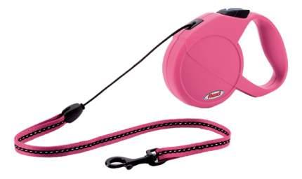 Поводок-рулетка flexi New Classic Mini ,до 8 кг, трос 3 м, розовая