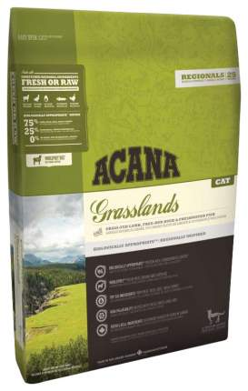 Сухой корм для кошек ACANA Regionals Grasslands, ягненок, индейка, утка, рыба, 5,4кг
