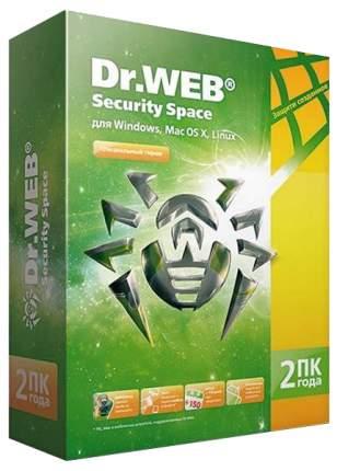 Антивирус Dr.Web Security Space 2 устройства, 2 года