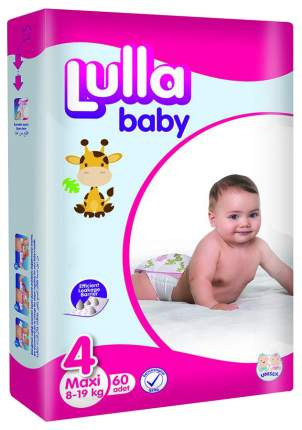 Подгузники Lulla Baby Maxi Jumbo 4 (8-19 кг), 60 шт.