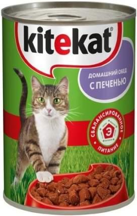 Консервы для кошек KiteKat Домашний обед, с печенью, 410г