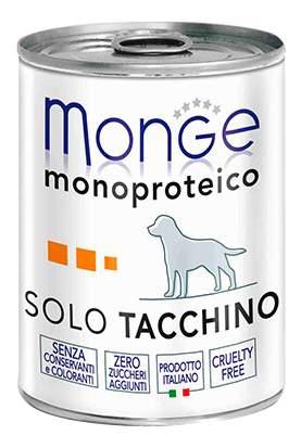 Консервы для собак Monge Monoproteico Solo, индейка, 400г
