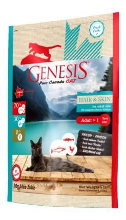 Сухой корм для кошек Genesis Pure Canada My Blue Lake Hair&Skin, рыба, 2,2кг