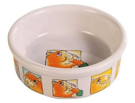 Одинарная миска для грызунов TRIXIE, керамика, белый, 0.3 л