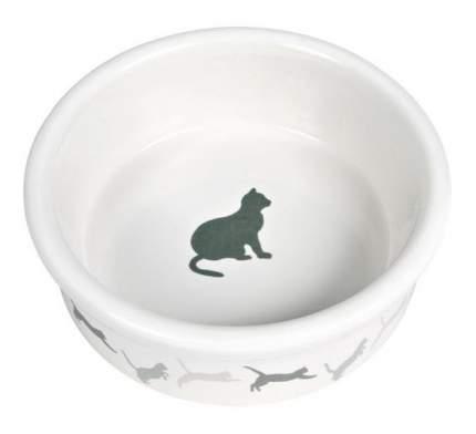 Одинарная миска для кошек TRIXIE, керамика, белый, 0.25 л