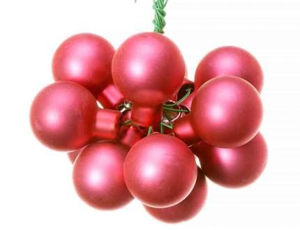 Гроздь стеклянных шаров Kaemingk на проволоке 25 мм розовый матовый, 12 шт 713506