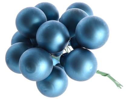 Гроздь стеклянных шаров Kaemingk на проволоке 25 мм лазурный синий матовый, 12 шт 713530