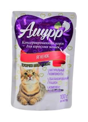 Влажный корм для кошек Амурр, ягненок, 100г