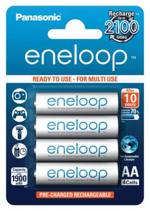 Аккумуляторная батарея Panasonic Eneloop BK-3MCCE/4BE 4 шт