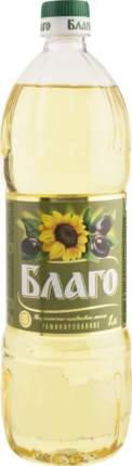 Масло Благо подсолнечно-оливковое рафинированное 1 л