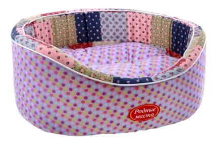 Лежанка для кошек и собак Родные места 38x43x15см фиолетовый