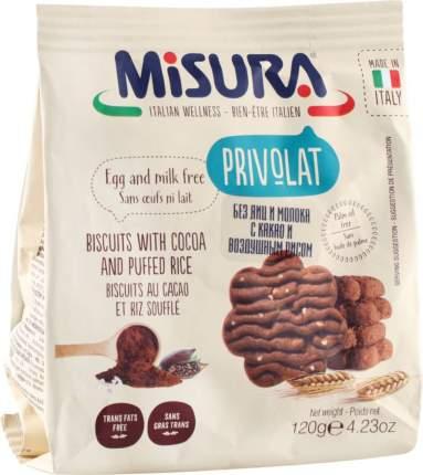 Печенье Misura с какао и воздушным рисом 120 г
