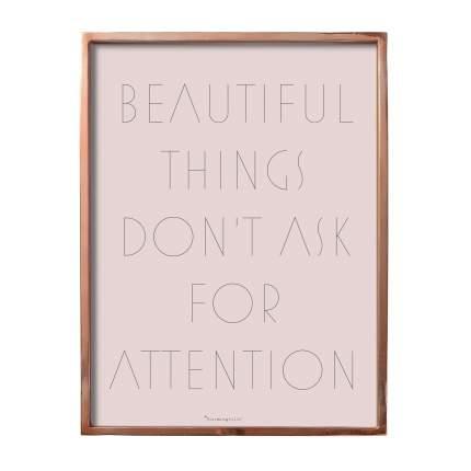 Картина Bloomingville с надписью Beautiful things DP00469
