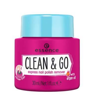 Жидкость для снятия лака Essence Clean & Go Express Nail Polish Remover 30 мл