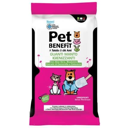 Влажные перчатки для животных Pet Benfit, для ухода за шерстью, 6шт.