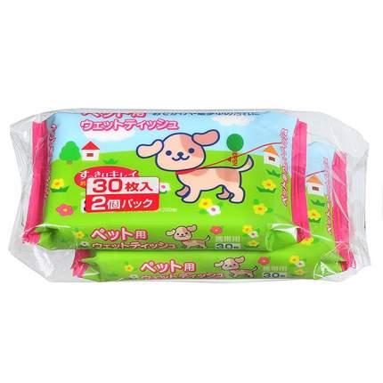 Влажные салфетки для кошек и собак Kyowa shiko, мини, 2х30шт.