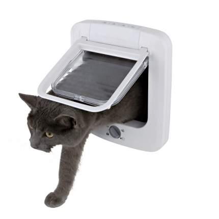 Дверца для кошек TRIXIE Cat Flap, белая, 15,7х16см