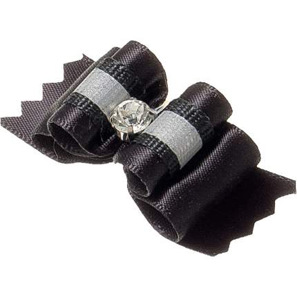 Бантик для собак ZooOne Ностальжи, пара, светоотражающий,тройной объёмный,чёрный,4,5х1,5см