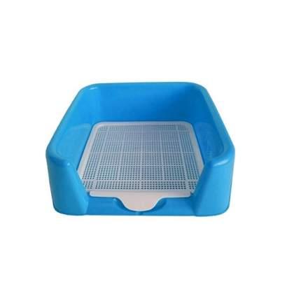 Лоток для собак Triol с сеткой, голубой, 42x57x15 см