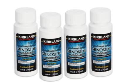 Усилитель роста волос Миноксидил Kirkland 4 флакона 5% анти-облысение