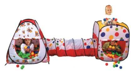 CALIDA Дом + 200 шаров КОНУС+КВАДРАТ + туннель (104х104х110см)+(48х180см)