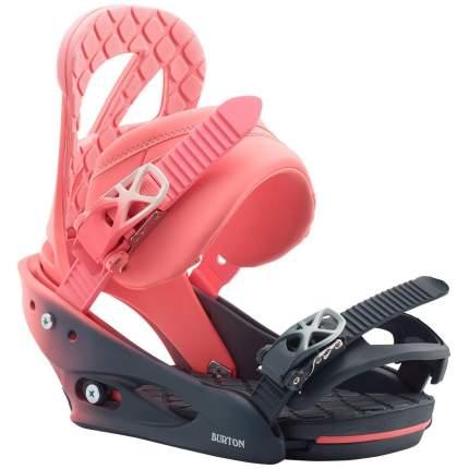 Крепления для сноуборда Burton Stiletto 2020, розовые, M