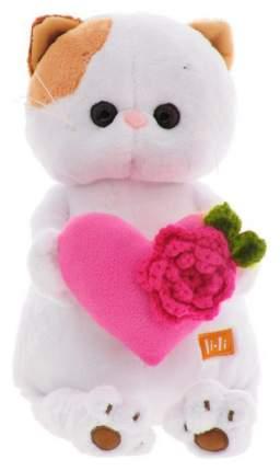 """Мягкая игрушка """"Кошечка Ли-Ли"""" с розовым сердечком, 27 см Басик и Ко"""