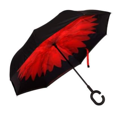 Зонт-трость UpBrella красный цветок