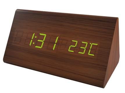 Электронные часы Perfeo Pyramid Brown