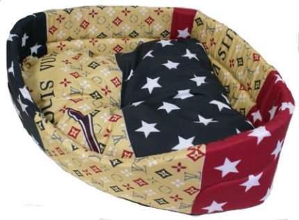 Лежак для собак и кошек Xody Угловой Эконом №3, цвета в ассортименте, 65х65х18 см
