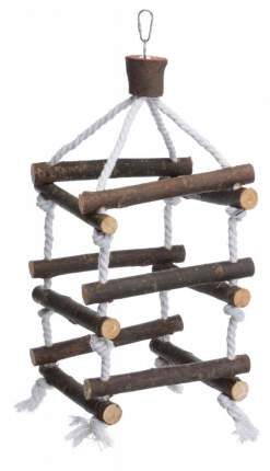 Лестница для птиц TRIXIE Tower with Rope M, деревянная, размер 51 см