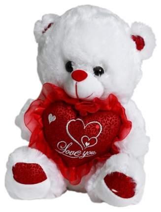 Мягкая игрушка Sima-Land Мишка с сердцем 4471243 Красный