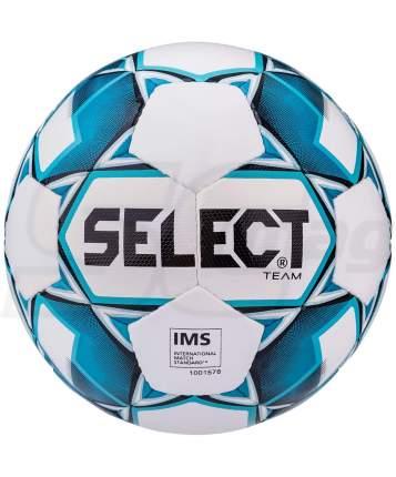 Мяч футбольный Team 815419 №5, белый/синий/черный
