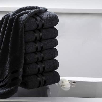 """Полотенце для рук """"Гармоника"""" Цвет: Черный (33х50 см - 6 шт)"""