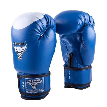 Боксерские перчатки Roomaif RBG-100 синие 2 унции