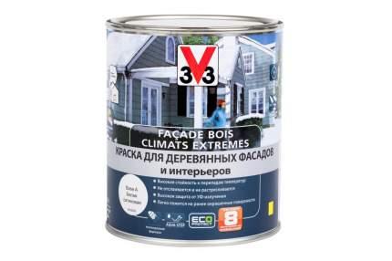 Краска V33 Facade Bois Climats Extremes для деревянных фасадов и интерьеров 0,9 л белая
